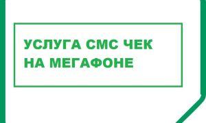 Что такое услуга SMS-чек на Мегафоне